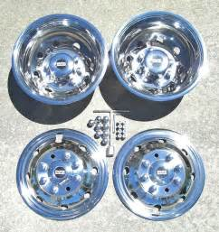 Ford Truck Dual Wheel Covers Ford E350 E450 Rv Motorhome 16 Quot 92 07 Stainless Dually