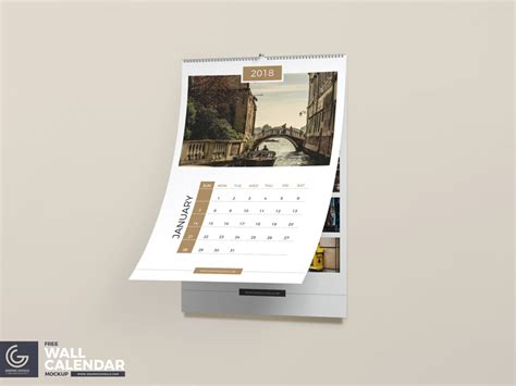 calendar design mockup free wall calendar psd mockup by graphic google dribbble