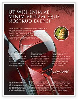 Wine Glass Flyer Template Background In Microsoft Word Publisher And Illustrator Formats Free Wine Flyer Template