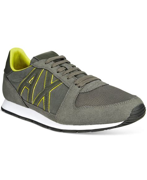 armani sneakers mens lyst armani exchange s ax jogger sneakers in gray