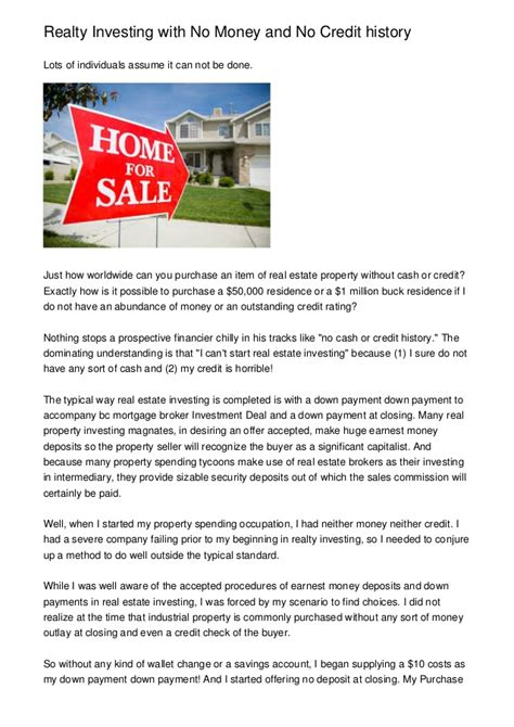 how can i buy a house with no money can i buy a home with no credit history howsto co