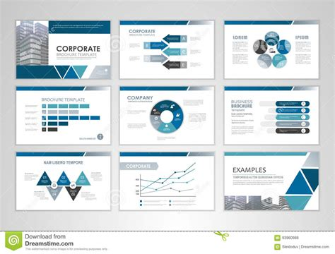 design and layout of business presentation presentation template with graphs and charts stock vector