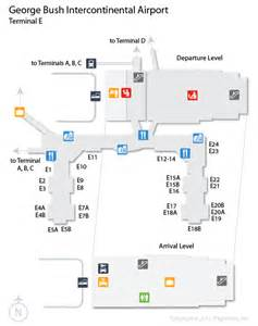 iah george bush intercontinental airport terminal map