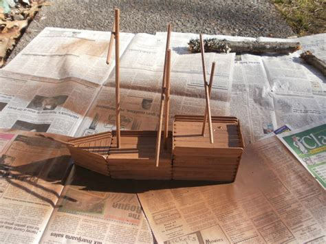 how to build a boat using popsicle sticks how to build a wooden popsicle stick ship 12