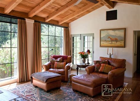 california mission style sitting room mediterranean