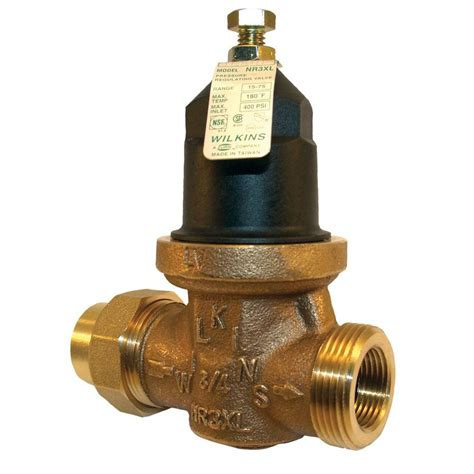 water pressure regulator zurn wilkins 1 in no lead brass water pressure reducing valve 1 nr3xl the home depot