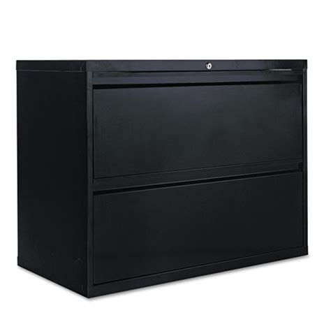 3 Drawer Lateral File Cabinet Black Two Drawer Lateral File Cabinet 36w X 19 1 4d X 28 3 8h Black Thegreenoffice