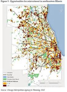 brownfield map go to 2040 better part i elevating chicago