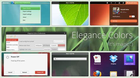 Gnome Color Themes | gnome shell elegance colors by satya164 on deviantart