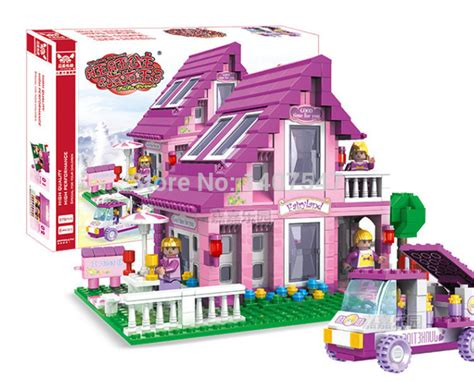 dolls house game new friends 576pcs olivias doll house girls games toys bricks building block toys diy