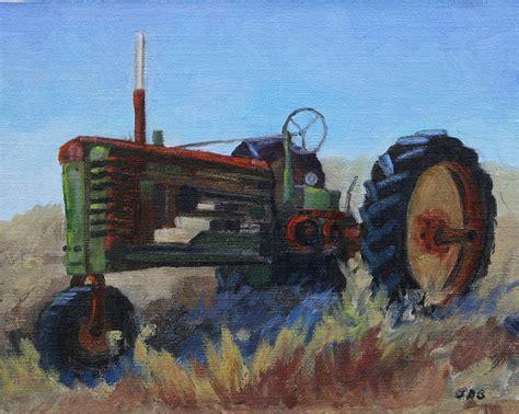 tractor painting 1940 deer tractor painting by grundmeier