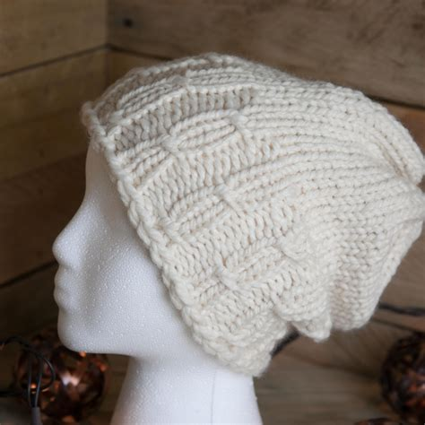 cable knit on loom loom knit hat pattern meadowlands staggered cable hat