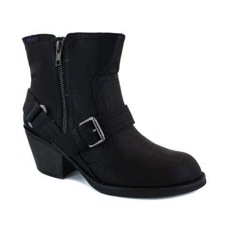rocket ankle boots rocket roger womens zip synthetic leather buckle ankle