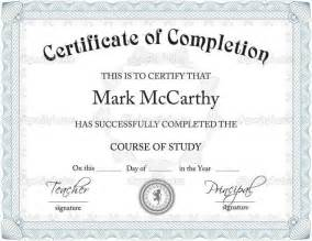 template of certificate of completion free certificate of completion templates for word