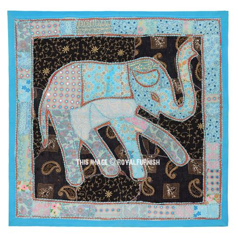 Indian Patchwork Wall Hanging - 40 quot indian patchwork elephant tapestry wall hanging ethnic