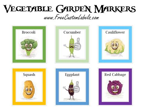 Vegetable Garden Markers Plant Label Template