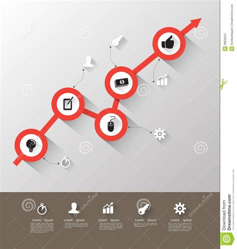 modern template report design table graph time line graph with icons royalty free stock photography