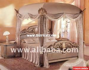 Solid Wood Canopy Bedroom Sets European Luxury Canopy King Size Home Bed Solid Wood