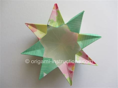 Origami Eight Pointed - origami 8 pointed vase step 1 origami pinned it did