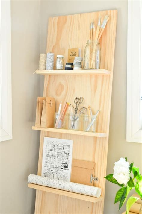 make your own leaning shelf system with this stylish diy