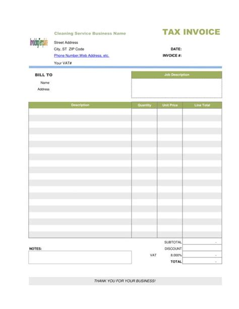 10 Cleaning Service Invoice Templates Pdf Word Sle Templates Cleaning Service Invoice Template Word