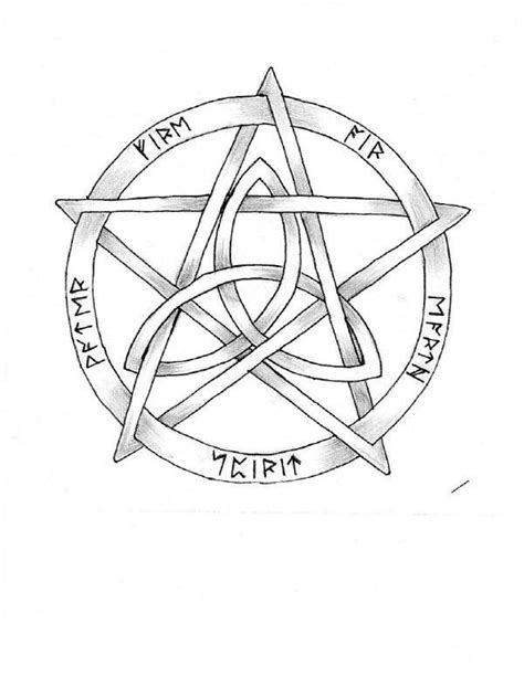 pentacle tattoo anchor tattoos designs wiccan tattoos designs and meaning