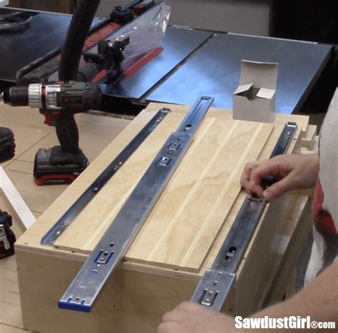 Installing Drawer Glides by Add Vertical Storage Drawers To Existing Cabinets