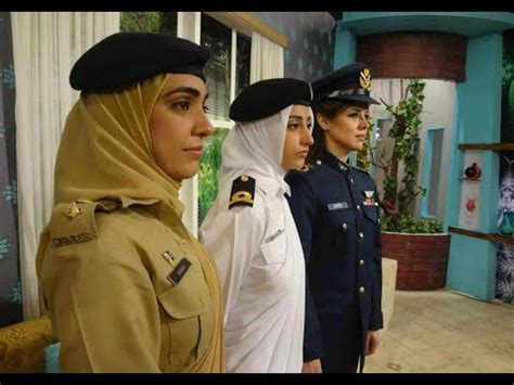 pakistani female military officers  pakistan defence day