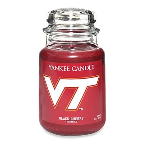 yankee candle fan yankee candle 174 virginia tech large jar fan candle bed
