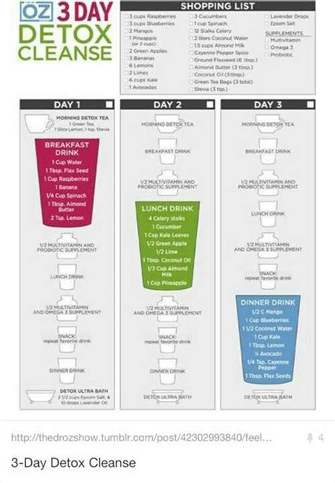 Detox Cleanse Articles by Dr Oz Three Day Detox Cleanse One Sheet How Can You All