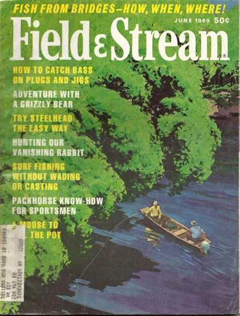 Field And Stream Gift Card - vintage field and stream magazine june 1969