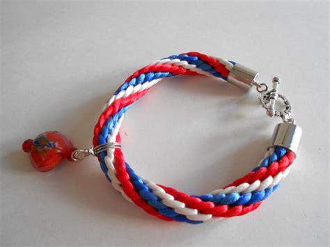 bracelet blue bracelet kumihimo bracelet woven bracelet
