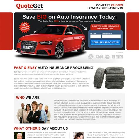 get free auto insurance quotes zip lp 036 auto insurance auto insurance landing page design to capture leads and