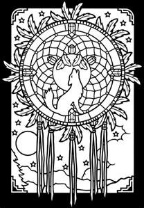 dreamcatcher coloring pages catcher coloring page american photos