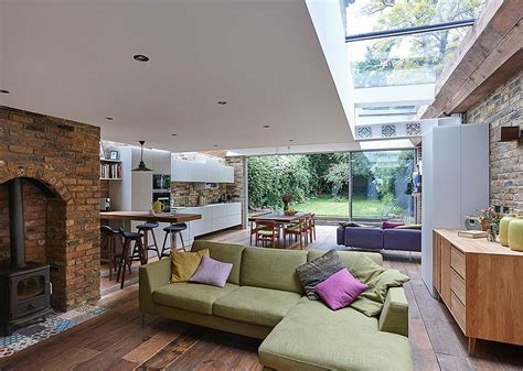 1950s Houses by Semi Detached London Terrace House Gets A Bright Modern