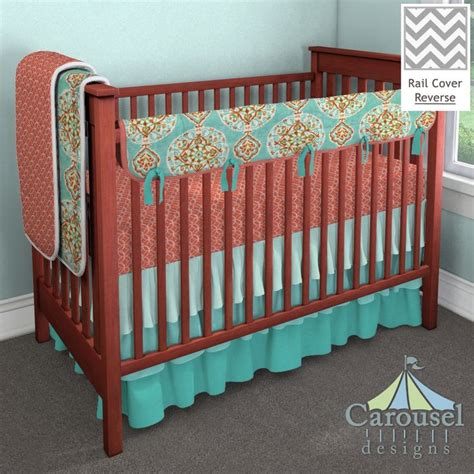 teal and coral baby bedding crib bedding in solid seafoam aqua solid teal solid