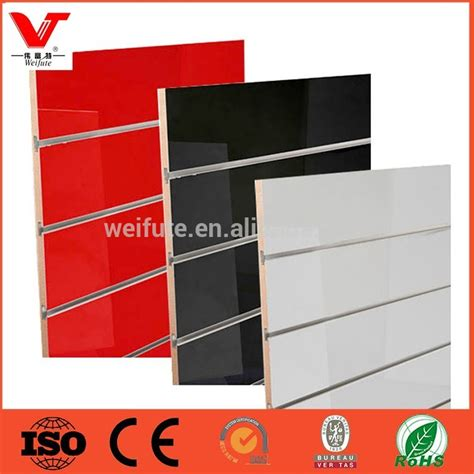 low prices melamine slatwall mdf low price slotted mdf board slat wall panel slatwall