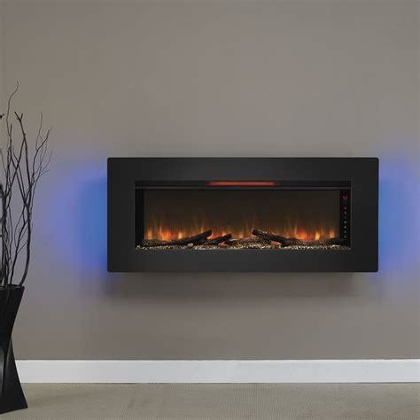 fireplace in wall classicflame 47 in felicity wall hanging electric