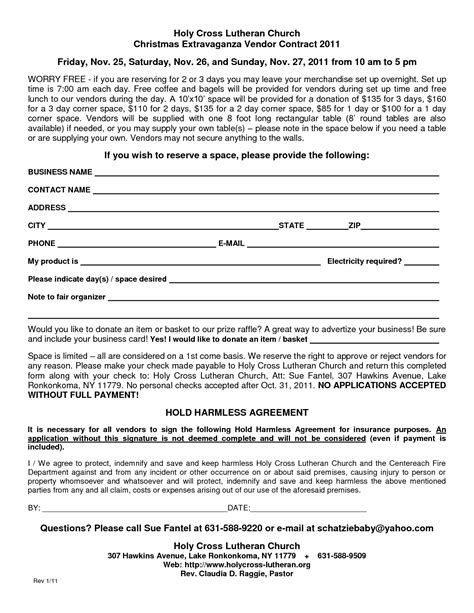 vendor contract template 28 images of template craft show vendor infovia net