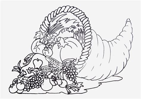 cornucopia printable coloring page cornucopia coloring pages to download and print for free