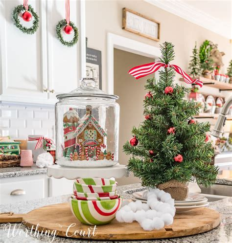 kitchen island christmas centerpiece christmas pinterest a very merry farmhouse christmas kitchen worthing court