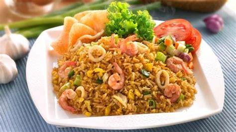 cara membuat nasi goreng vegetarian resep nasi goreng seafood istimewa fried rice nasi