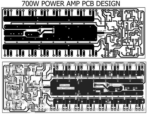 layout pcb power lifier 2000 watt 700w power amplifier with 2sc5200 2sa1943 electronic