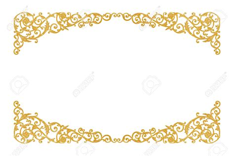 gold pattern border stucco decor clipart clipground