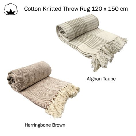 100 cotton throw rugs 100 cotton knitted fringe lounge sofa bed throw rug