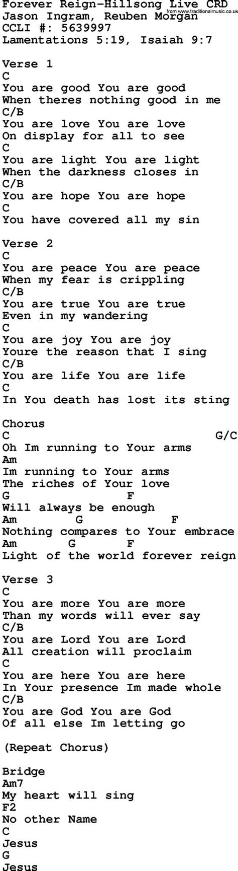lyrics and piano chords gospel song forever hillsong live lyrics and