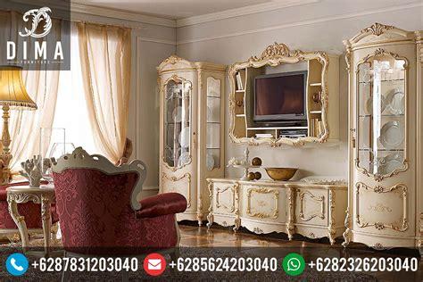 Lemari Hias Jati Dan Bufet Tv Jati Klasik Duco Mewah Kjf Jepara mebel jepara murah bufet tv dan lemari hias klasik mewah royal terbaru df 0066 dima furniture