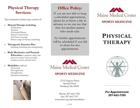 physical therapy brochure templates inmotion physical