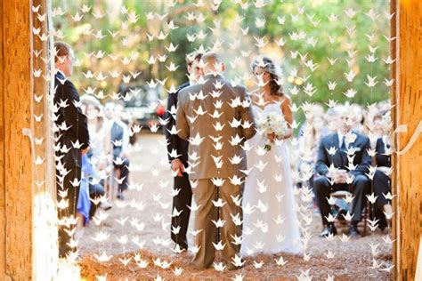 Origami Cranes For Wedding - 10 ideas for unique wedding backdrops backdrop express
