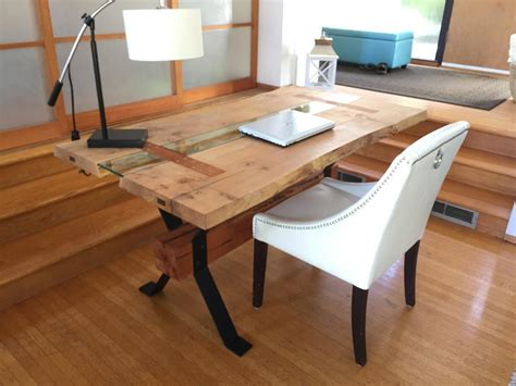 live edge wood desk live edge executive desk or dining table 1 of a